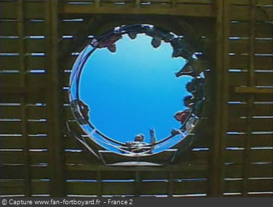 Fort Boyard 1994 - La percée du rond central, largement mis en valeur