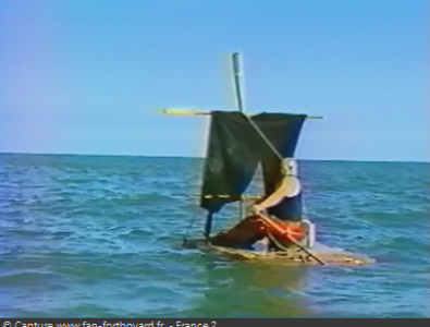Fort Boyard 1994 : Après le générique de fin de la dernière émission, La Boule tente de quitter le fort !