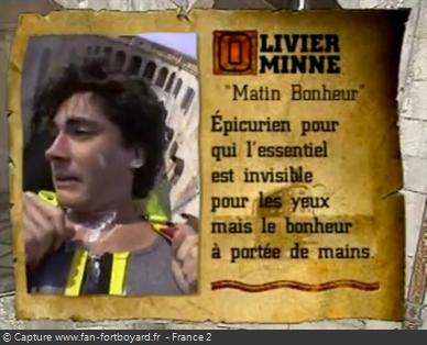Fort Boyard 1995 : Un certain Olivier Minne participe à la nouvelle aventure de la Catapulte