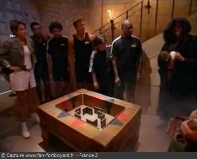Fort Boyard 1996 : L'équipe assiste à la libération