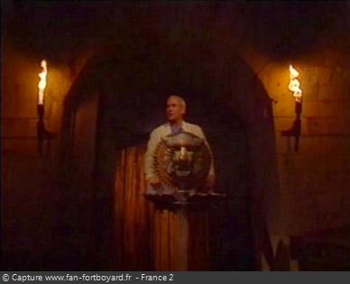 Fort Boyard 1996 : Patrice Laffont préside le Conseil