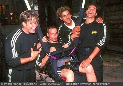 Fort Boyard 1997 - Les ''boys band'' à l'honneur en 1997, comme ici avec les G-Squad