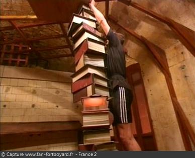 Fort Boyard 1997 : La nouvelle épreuve de la Colonne du libraire