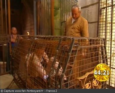 Fort Boyard 1997 : Installation dans la Cage aux tigres