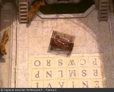 Fort Boyard 1997 : La séquence de la Cage aux tigres pour la 7e clé