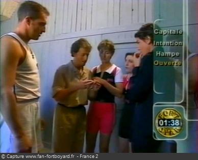Fort Boyard 1998 : Exemple d'habillage à l'écran spécifique à 1998