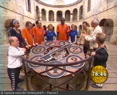 Fort Boyard 1999 : L'Horloge du tigre est reconduite en 1999
