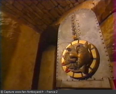 Fort Boyard 1999 : Le mécanisme des têtes de tigres à la fin du parcours