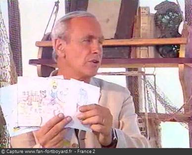 Fort Boyard 1999 : Lecture d'un courrier de téléspectateurs en vigie