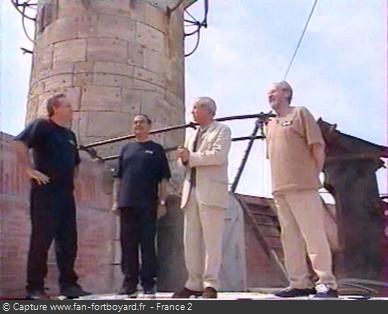 Fort Boyard 1999 : Yves Bigot, Claude Belot, Patrice Laffont et Jacques Antoine