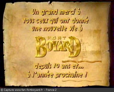 Fort Boyard 1999 : Message de remerciements pour clore la 10e saison