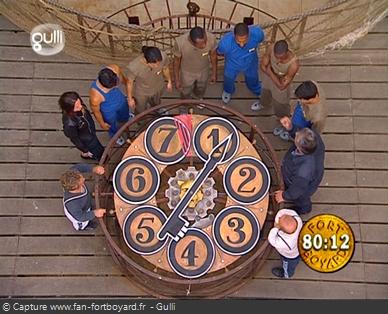 Fort Boyard 2001 : L'Horloge du tigre est reconduite en 2001