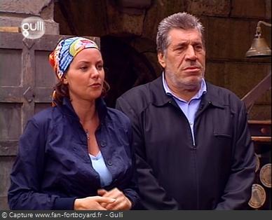 Fort Boyard 2002 : Dernière saison du duo Jean-Pierre Castaldi (3 saisons) et Cendrine Dominguez (10 saisons)