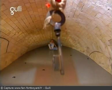 Fort Boyard 2003 : Le retour de l'épreuve du Mur glissant