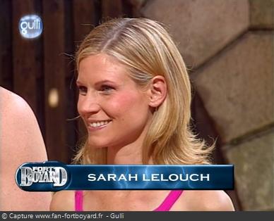 Fort Boyard 2003 : Sarah Lelouch remplace Cendrine Dominguez, avec le même rôle