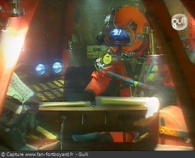 Fort Boyard 2006 : La Salle des commandes immergée avec le candidat portant un scaphandre