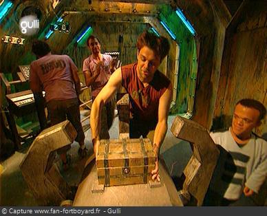 Fort Boyard 2007 : A la fin du Cryptogramme, l'équipe peut remporter le coffret de Boyards