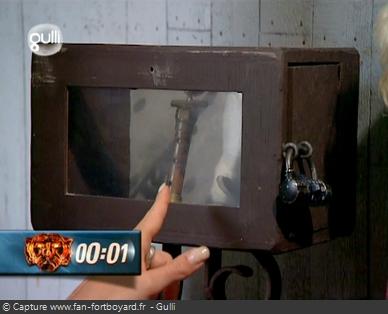 Fort Boyard 2007 : Un nouveau style pour les coffret à indices, plus petit et transparent