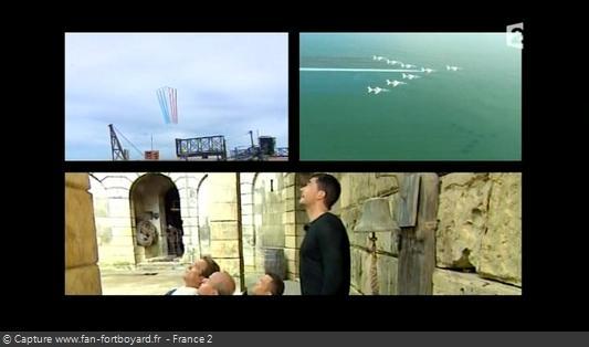 Fort Boyard 2008 - La Patrouille de France passe au-dessus du fort au début de l'émission 2