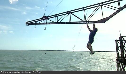 Fort Boyard 2008 : La nouvelle épreuve de la Poutre à la mer