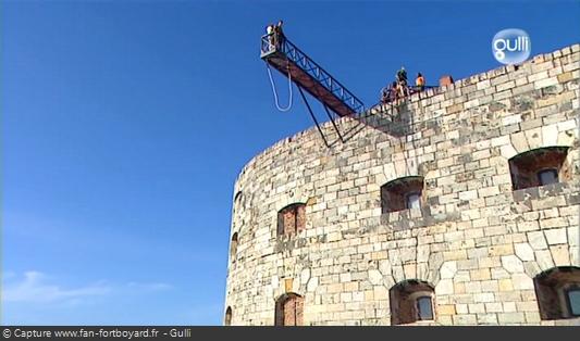 Fort Boyard 2008 : Les nouvelles images en 16/9e, offrent de beaux panoramas lors des aventures, notamment le Saut extérieur