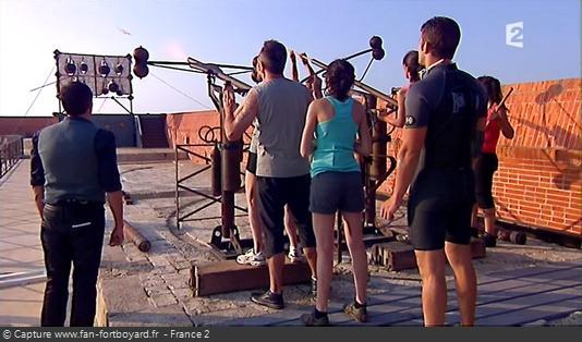 Fort Boyard 2010 - Le Relais-arbalète se déroule dans tout le fort et se termine sur la terrasse