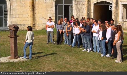 Fort Boyard 2010 : Tirage aux sorts des deux équipes du jour au Fort Liédot sur l'île d'Aix