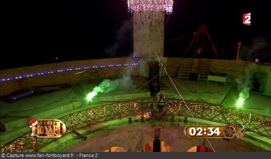 Fort Boyard 2012 - L'aventure du Funambule en nocturne dans l'émission de Noël