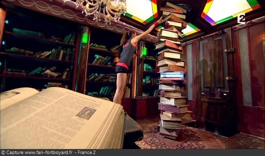 Fort Boyard 2013 : La nouvelle épreuve de la Bibliothèque (en rappel de la Colonne du libraire de 1997-2000)