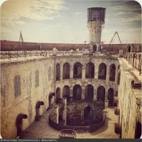 Fort Boyard 2013 : Vue de la cour intérieure (07/05/2013)