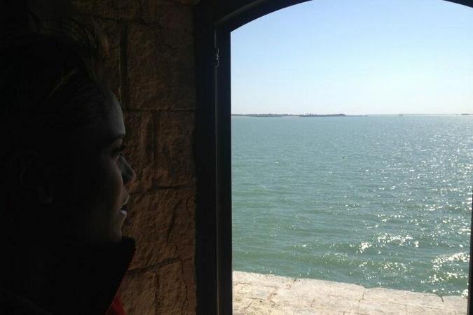 Fort Boyard 2013 : Vue depuis une fenêtre du Fort Boyard (03/06/2013)