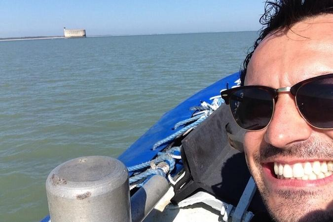 Fort Boyard 2013 : Willy Rovelli arrive au Fort (05/06/2013)