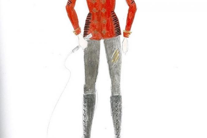Fort Boyard 2013 : Dessin du costume pour Félindra (13/03/2013)