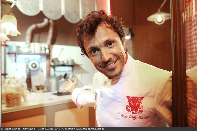 Fort Boyard 2014 - Le cuisinier Willy ROVELLI dans son restaurant