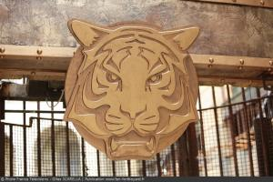Fort Boyard 2014 - Détail de la tête de tigre au-dessus de la porte de la Salle du Trésor