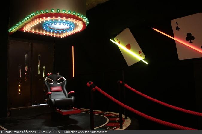 Fort Boyard 2014 - L'épreuve du Casino avec des nouveaux éléments décoratifs