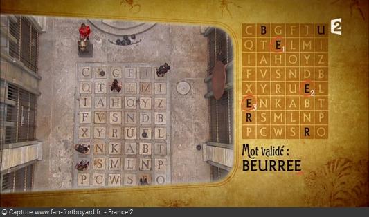 Fort Boyard 2014 : Exemple d'un cas rare d'une erreur d'orthographe sur l'alphabet de la Salle du Trésor (émission 3)