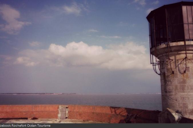 Fort Boyard 2014 : Vue depuis la terrasse du Fort Boyard (03/04/2014 - ROT)