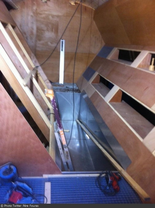 Fort Boyard 2014 : Nouvelle épreuve en cours de construction (03/05/2014 - Père Fouras)