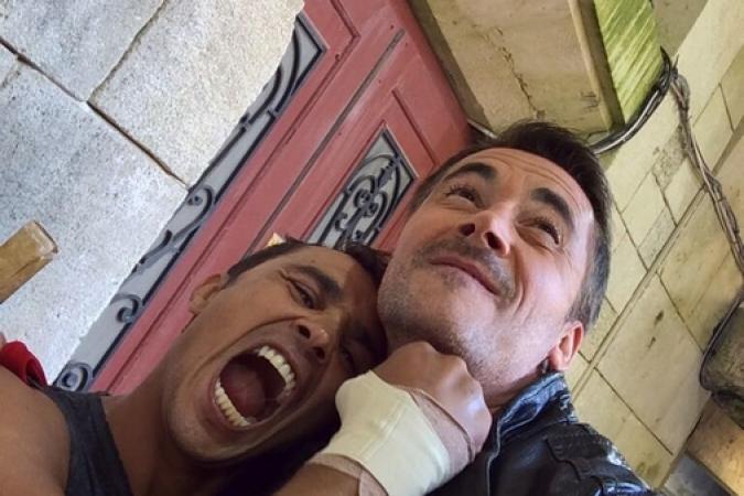 Fort Boyard 2014 : Brahim ASLOUM et Olivier MINNE (03/06/2014 - O. Minne)