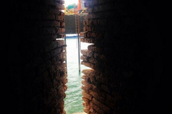 Fort Boyard 2014 : La plate-forme depuis une fênetre du fort (03/06/2014 - L. Marsick)