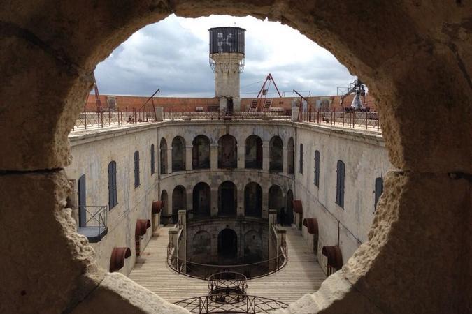 Fort Boyard 2014 : La cour intérieure (03/06/2014 - J. Magne)