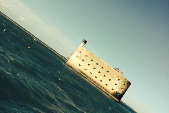 Fort Boyard 2014 : Willy arrive sur le fort pour la 2e année (22/05/2014 - W. Rovelli)