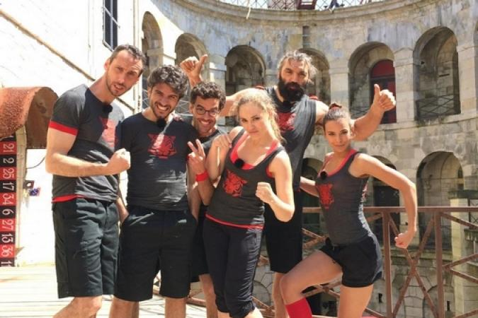 Fort Boyard 2014 : Sébastien CHABAL, Marine LORPHELIN, Thomas ISLE, Joy ESTHER, Vérino, Arnaud COSSON (19/07/2014)