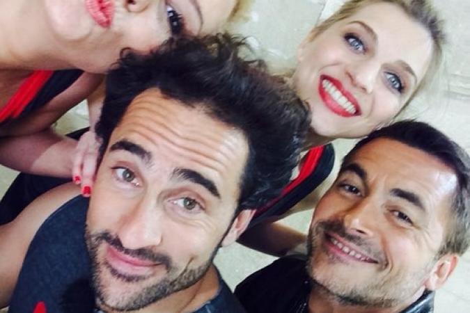 Fort Boyard 2014 : Elodie GOSSUIN, Florent PEYRE, Amandine BOURGEOIS, Olivier MINNE (26/07/2014)