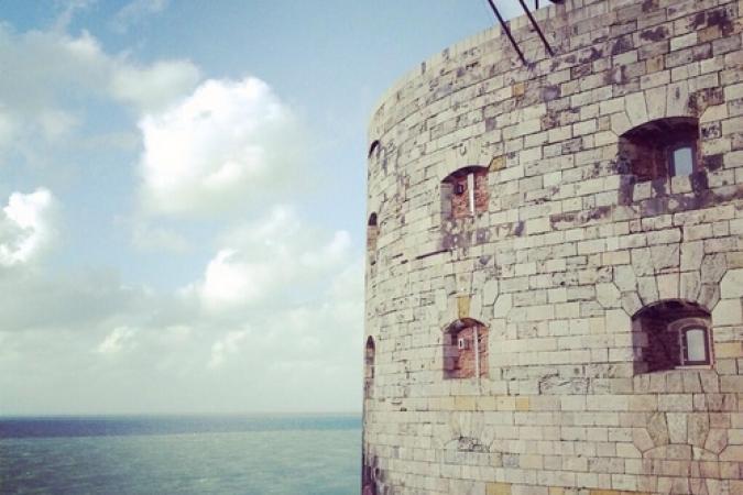 Fort Boyard 2014 : Vue extérieur du Fort Boyard (23/05/2014 - D. Wespiser)