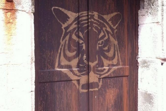 Fort Boyard 2014 : La nouvelle fausse-porte du restaurant du fort (28/05/2014 - A. Laborde)