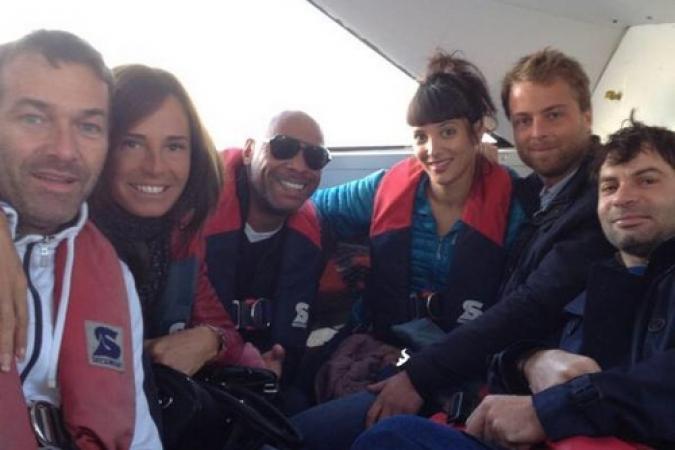Fort Boyard 2015 : L'équipe 4 en route pour le Fort (21/05/2015)