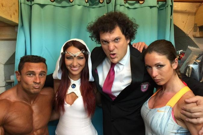 Fort Boyard 2015 : Mister Boo, Blanche, Eric ANTOINE et Lady Boo (25/05/2015)