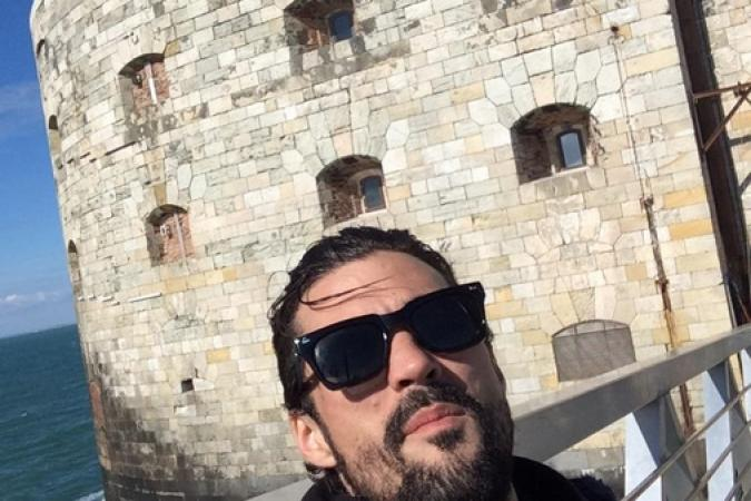 Fort Boyard 2015 : Florent MOTHE devant le fort (25/05/2015)